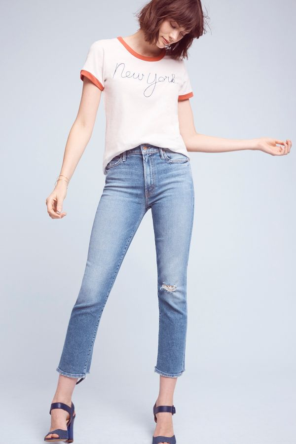 Mother Mother Rascal High-Rise Straight Jeans