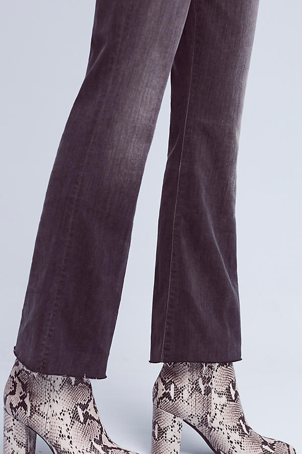 Slide View: 3: Mother Hustle Ultra High-Rise Ankle Fray Jeans
