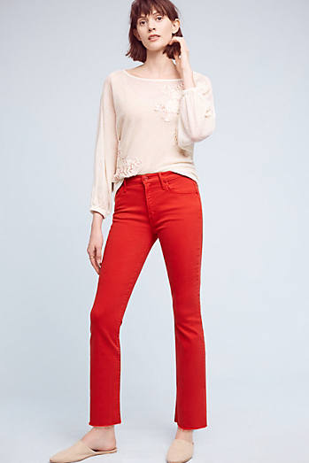Mother The Insider Crop High-Rise Petite Jeans