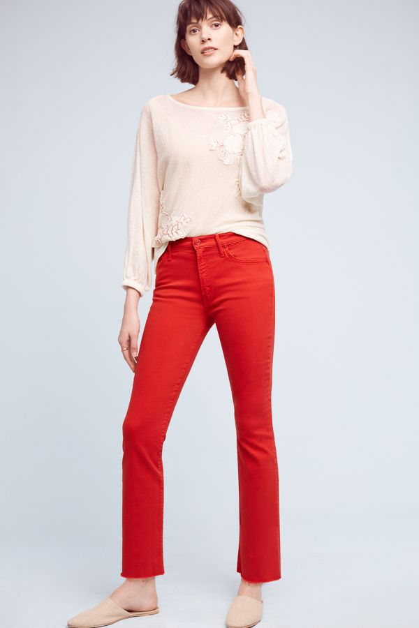 Mother Mother Insider Crop High-Rise Petite Jeans
