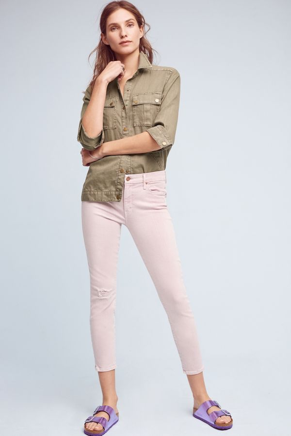 Mother Mother Looker Mid-Rise Crop Jeans