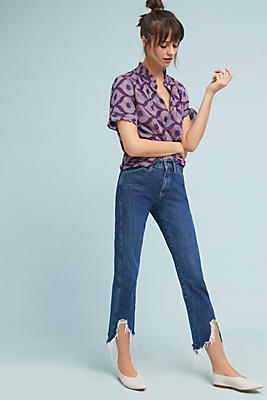 Slide View: 1: M.i.h Cult High-Rise Straight Cropped Jeans