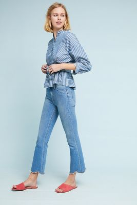 M.I.H Marty Ultra High Rise Cropped Flare Jeans by M.I.H