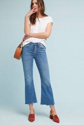 M.I.H Lou Mid Rise Cropped Flare Jeans by M.I.H