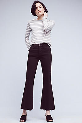 Slide View: 1: M.i.h Lou High-Rise Cropped Flare Jeans