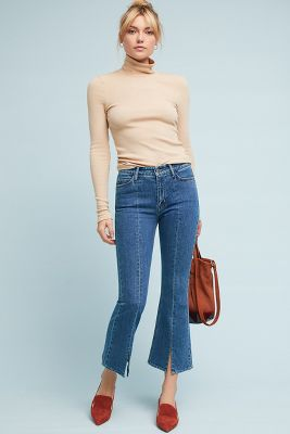 M.I.H High Rise Marty Cropped Flare Jeans by M.I.H