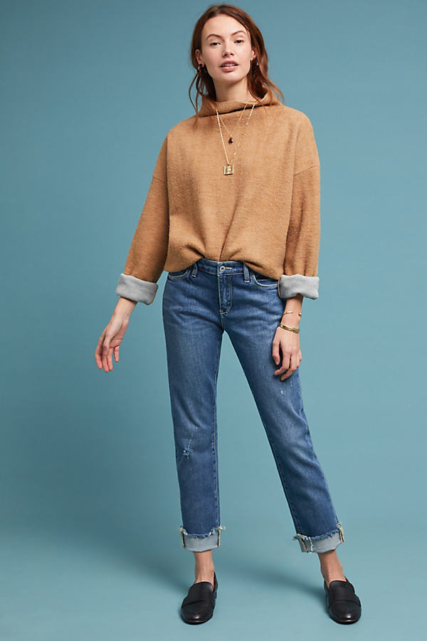 Pilcro High-Rise Slim Boyfriend Jeans - Blue, Size 31