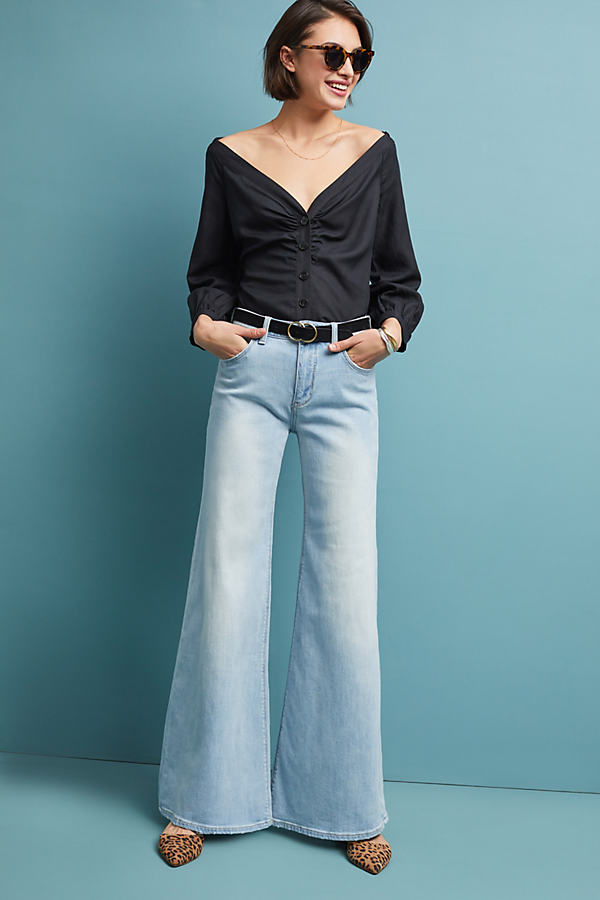 Pilcro High-Rise Wide-Leg Jeans - Blue, Size 26
