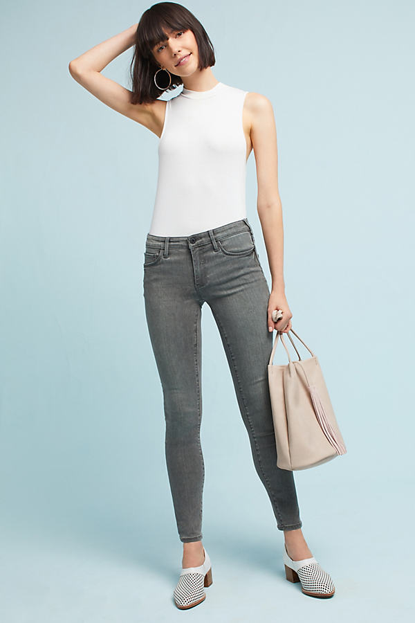 Pilcro Mid-Rise Skinny Ankle Jeans - Grey, Size 25 Petite