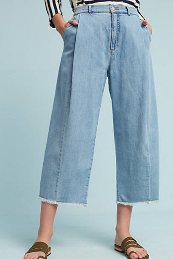 Pilcro High-Rise Wide-Leg Cropped Jeans