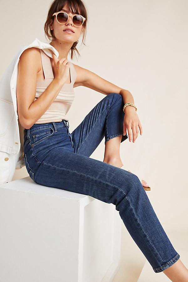 Pilcro Billie High-Waisted Mom Jeans - Blue, Size 30