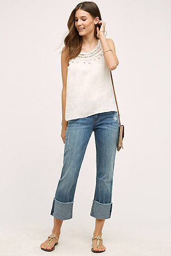 Pilcro Hyphen Cuffed Mid-Rise Jeans