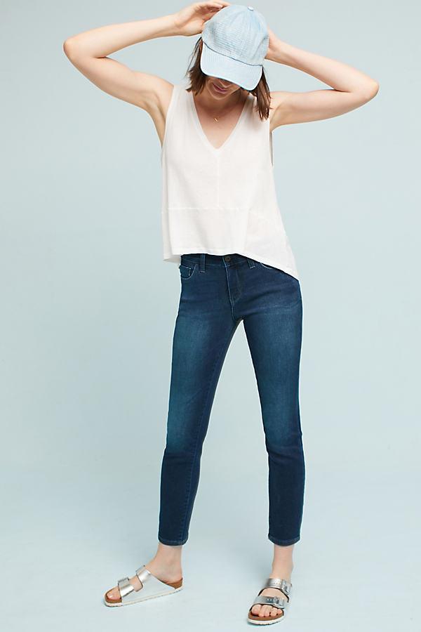 Pilcro Mid-Rise Skinny Ankle Jeans - Denim Light, Size 25