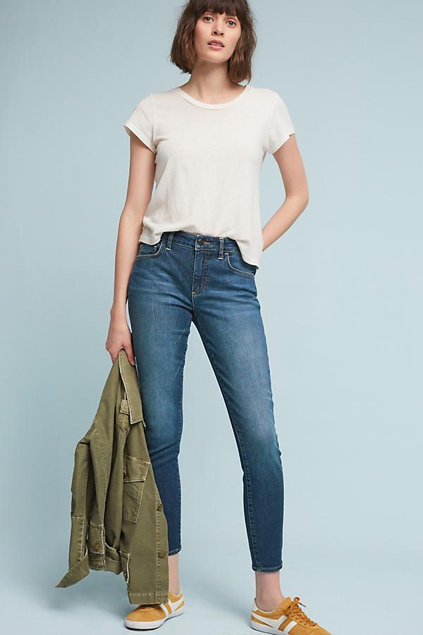 Pilcro Script High-Rise Skinny Jeans - Denim Medium Blue, Size 30