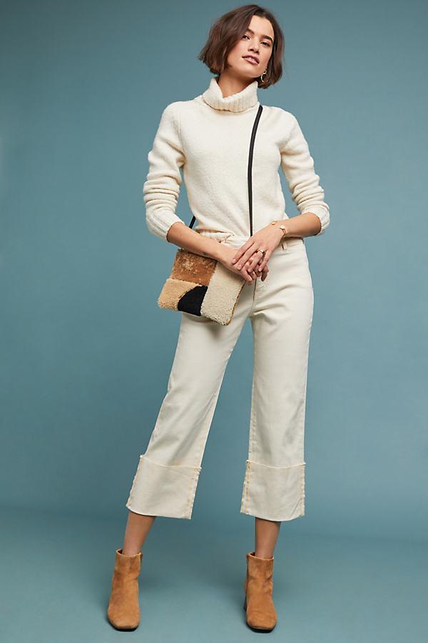 Pilcro High-Rise Slim Straight Jeans - Beige, Size 27