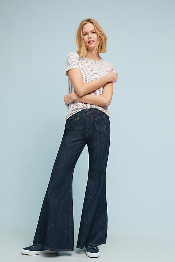 Pilcro High-Rise Flare Jeans - Blue, Size 32