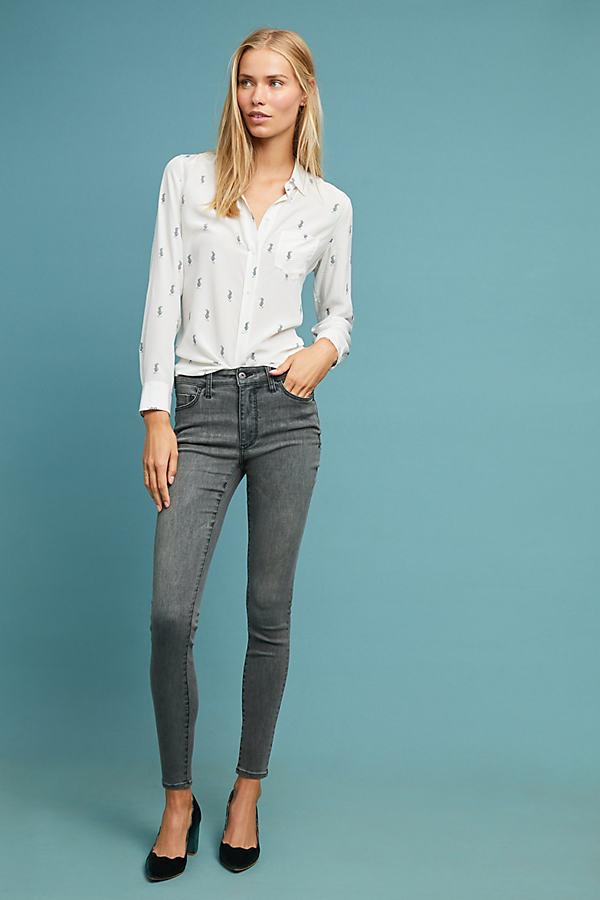 Pilcro High-Rise Denim Leggings - Grey, Size 31