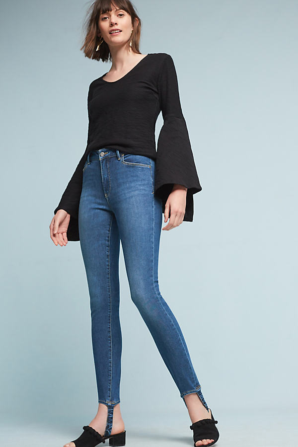 Pilcro Stirrup High-Rise Skinny Jeans - Denim Medium Blue, Size 26