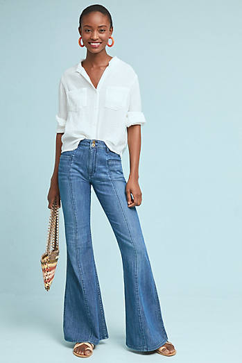 Pilcro Ultra High-Rise Flare Jeans