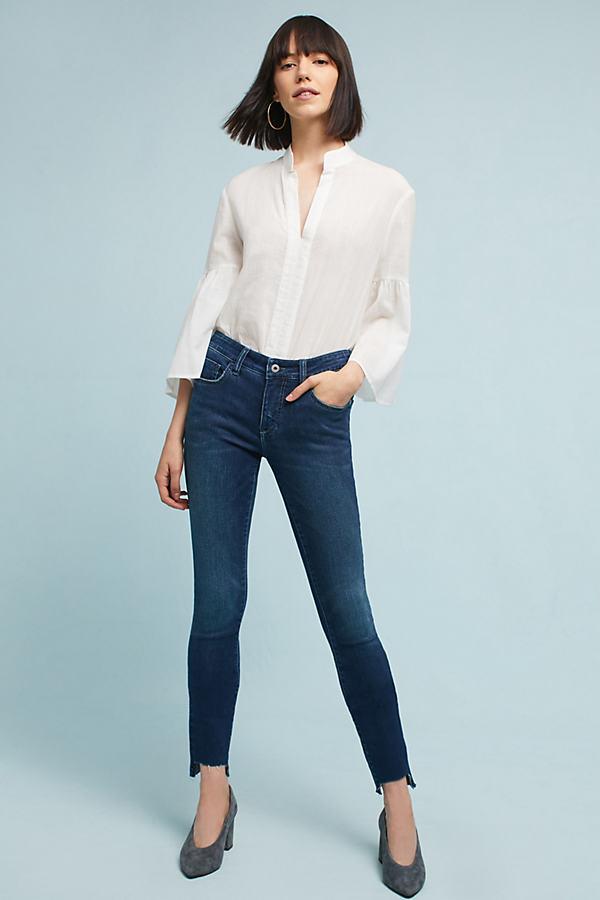 Pilcro Mid-Rise Skinny Ankle Jeans - Denim Dark, Size 28