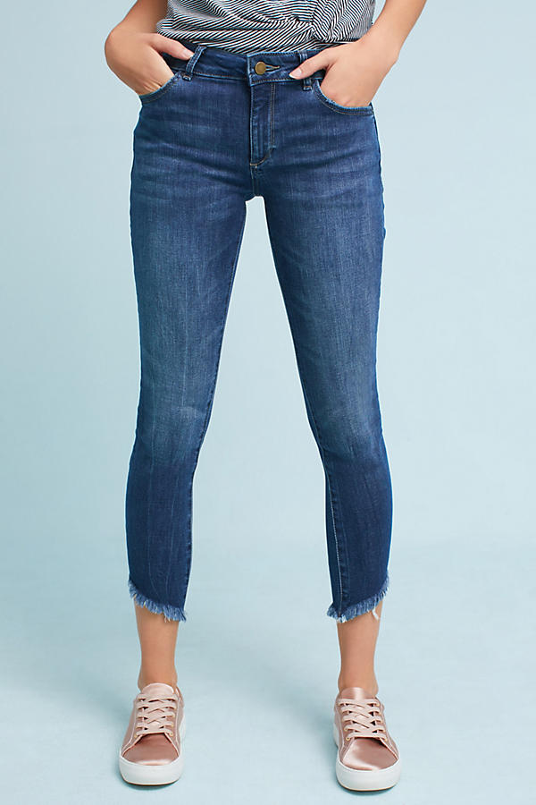 Slide View: 2: DL1961 Wagner Mid-Rise Skinny Ankle Petite Jeans