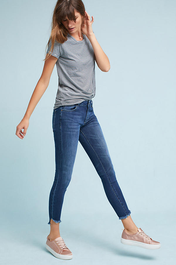 Slide View: 5: DL1961 Wagner Mid-Rise Skinny Ankle Petite Jeans