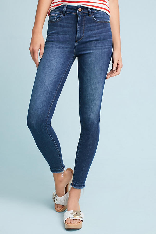 Slide View: 2: DL1961 Ryan High-Rise Skinny Cropped Petite Jeans