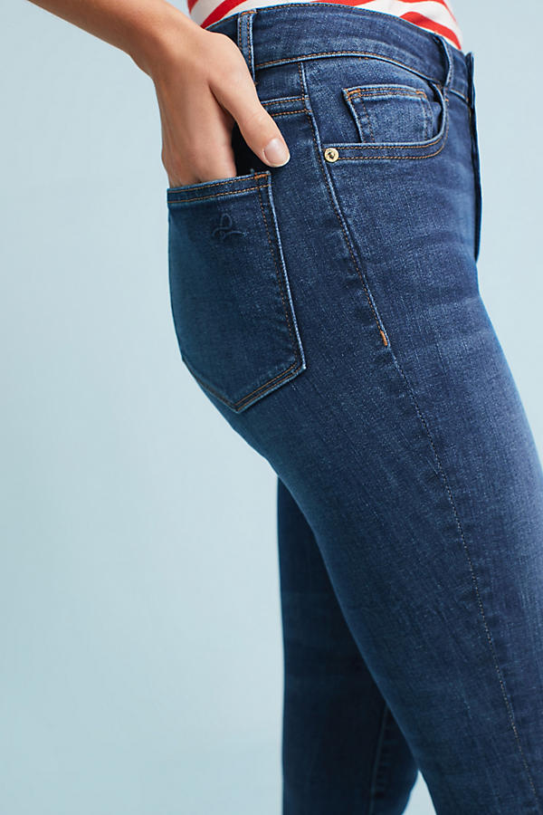 Slide View: 3: DL1961 Ryan High-Rise Skinny Cropped Petite Jeans