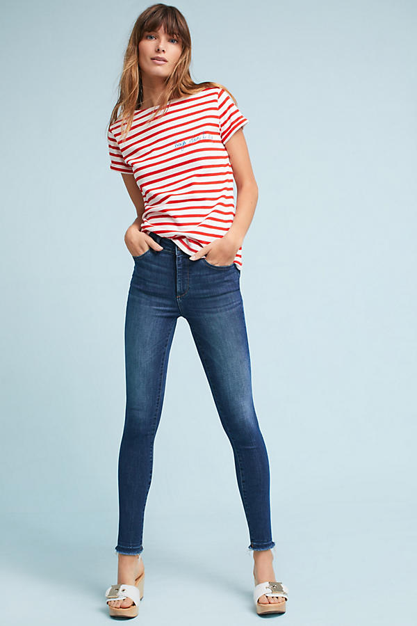 Slide View: 1: DL1961 Ryan High-Rise Skinny Cropped Petite Jeans