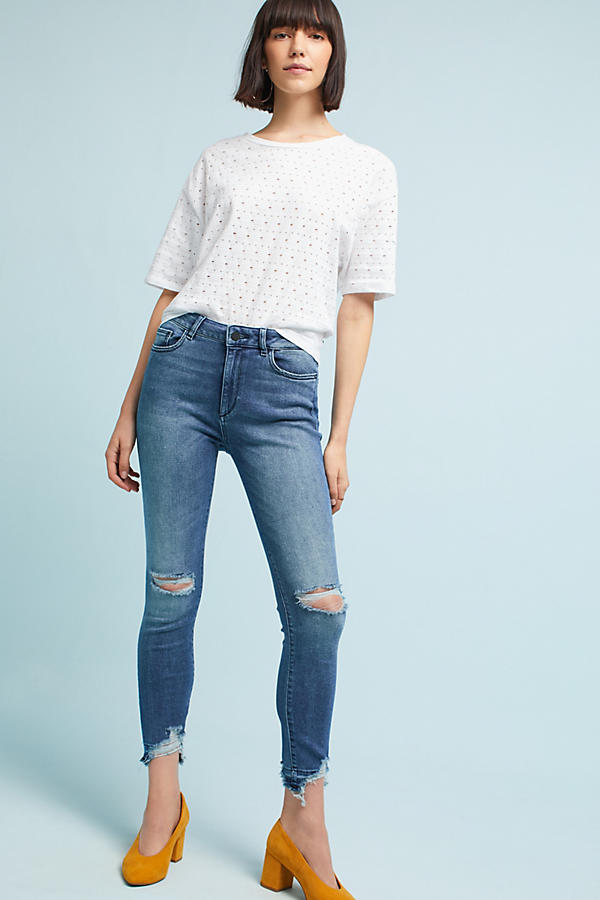 Slide View: 1: DL1961 Farrow High-Rise Skinny Jeans