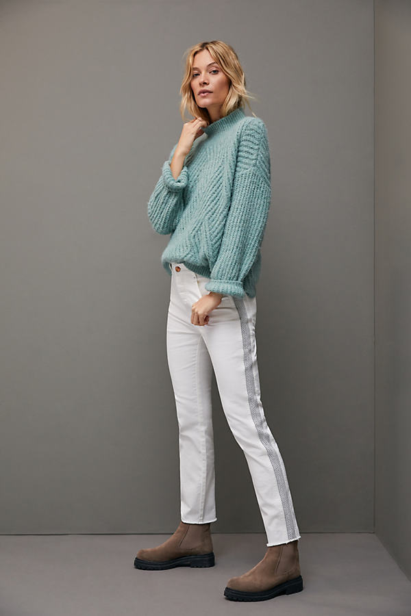 Pilcro Ultra High-Rise Side-Striped Jeans