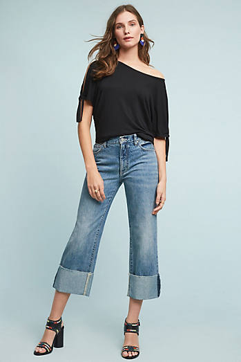 Pilcro Folio Ultra High-Rise Cuffed Jeans