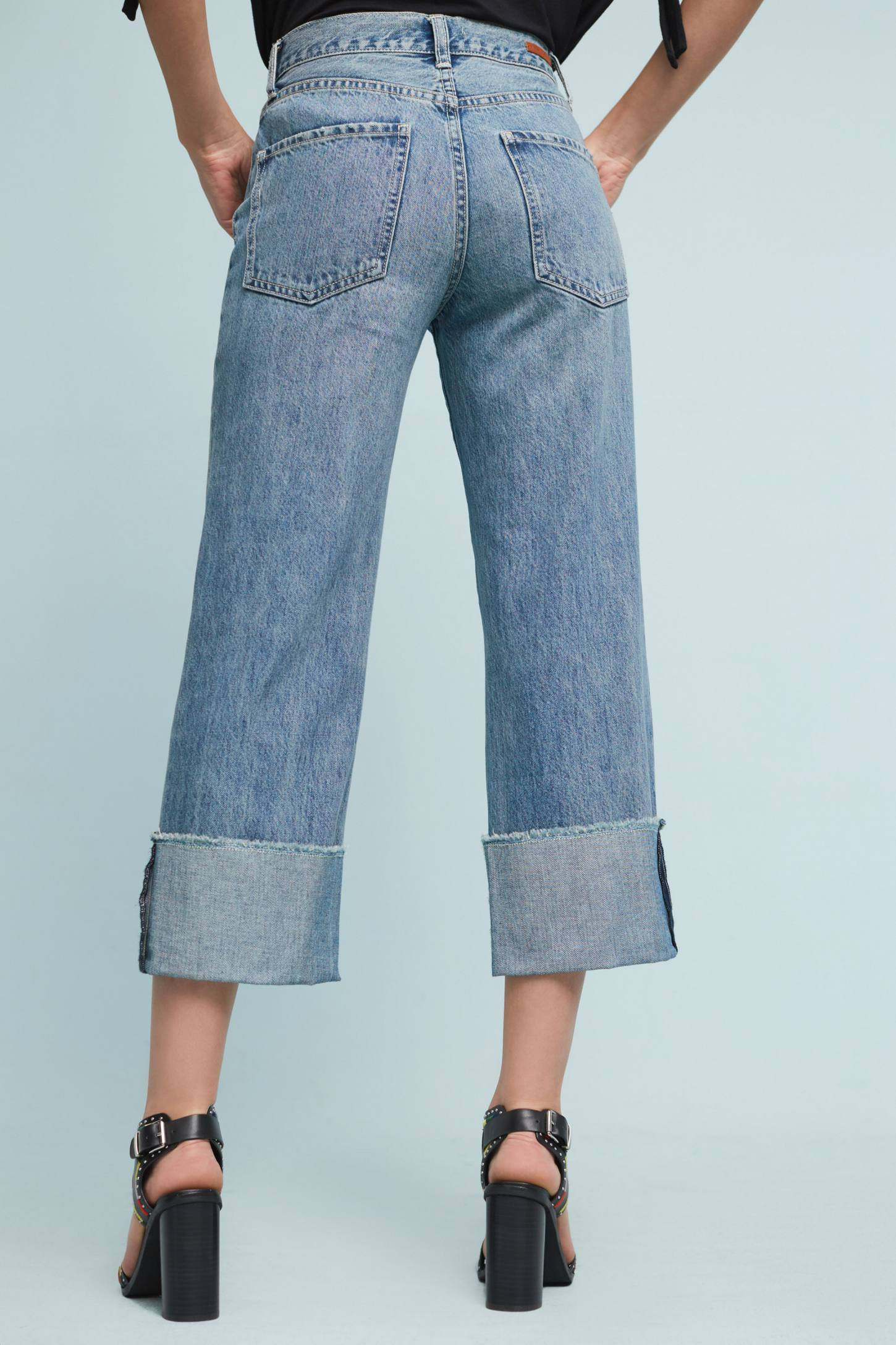 Pilcro Folio Ultra High-Rise Cuffed Jeans | Anthropologie