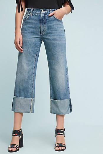 Pilcro Folio Ultra High-Rise Cuffed Jeans