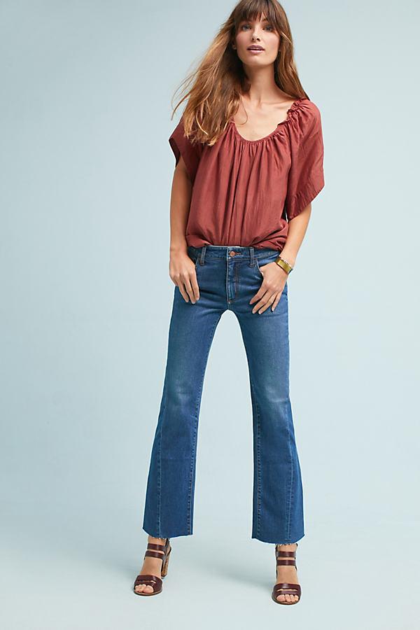 Pilcro High-Rise Cropped Flare Jeans - Denim Medium Blue, Size 28