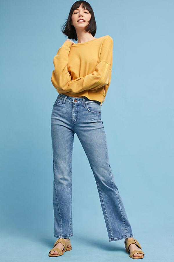 Pilcro High-Rise Cropped Flare Jeans - Denim Medium Blue, Size 29