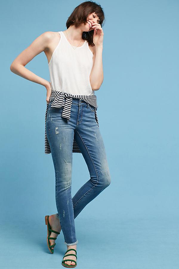 Pilcro Mid-Rise Skinny Ankle Jeans - Denim Light, Size 26