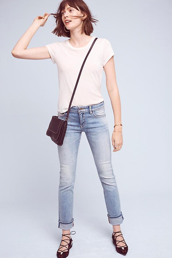 Slide View: 1: Pilcro Parallel Mid-Rise Jeans