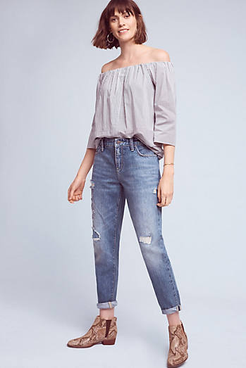 Pilcro Hyphen High-Rise Relaxed Boyfriend Jeans