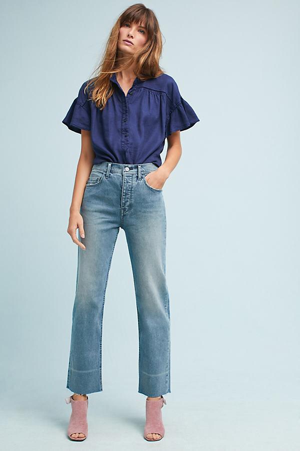 Pilcro Mid-Rise Boyfriend Ankle Jeans - Denim Medium Blue, Size 30