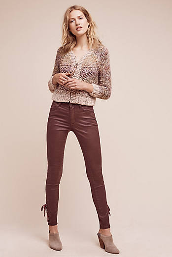 Pilcro Script Coated High-Rise Jeans