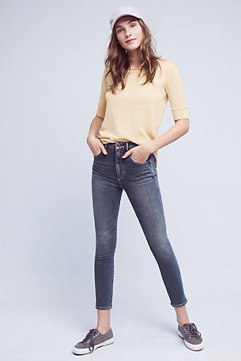 Pilcro Superscript Ultra High-Rise Straight Ankle Jeans