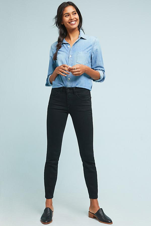 Pilcro Evana High-Rise Skinny Jeans - Black, Size 28