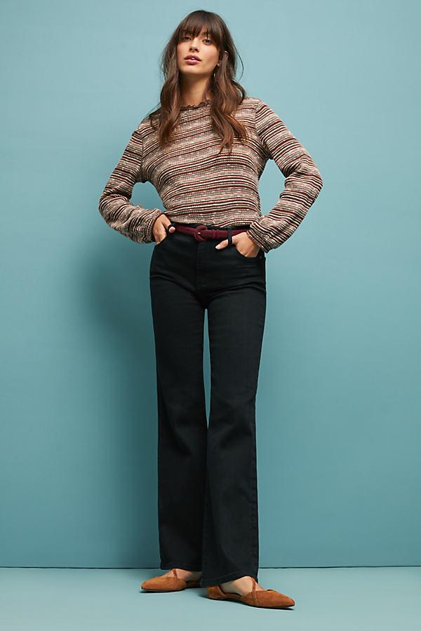 Petite Pilcro High-Rise Bootcut Jeans - Black, Size 30 Petite