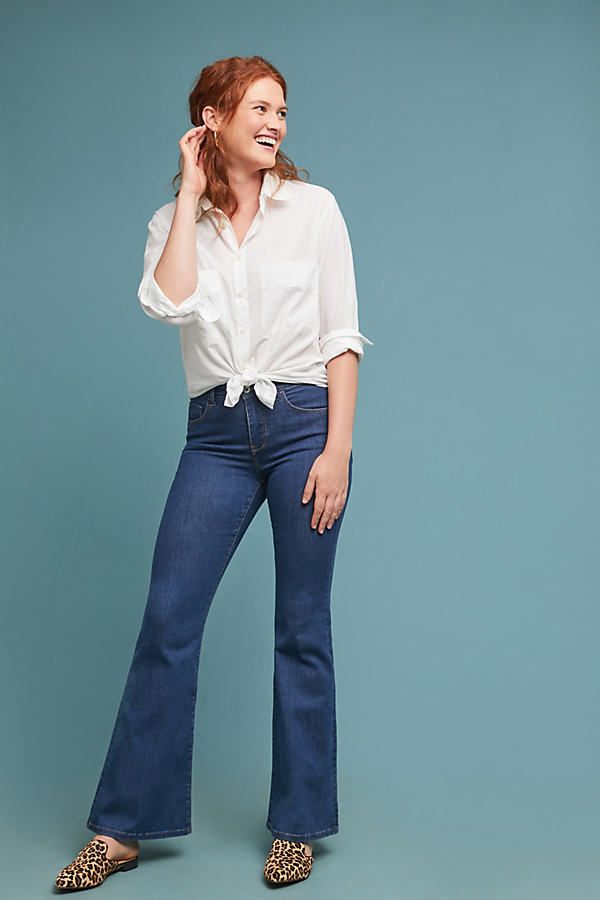 Pilcro High-Rise Flare Jeans - Blue, Size 26