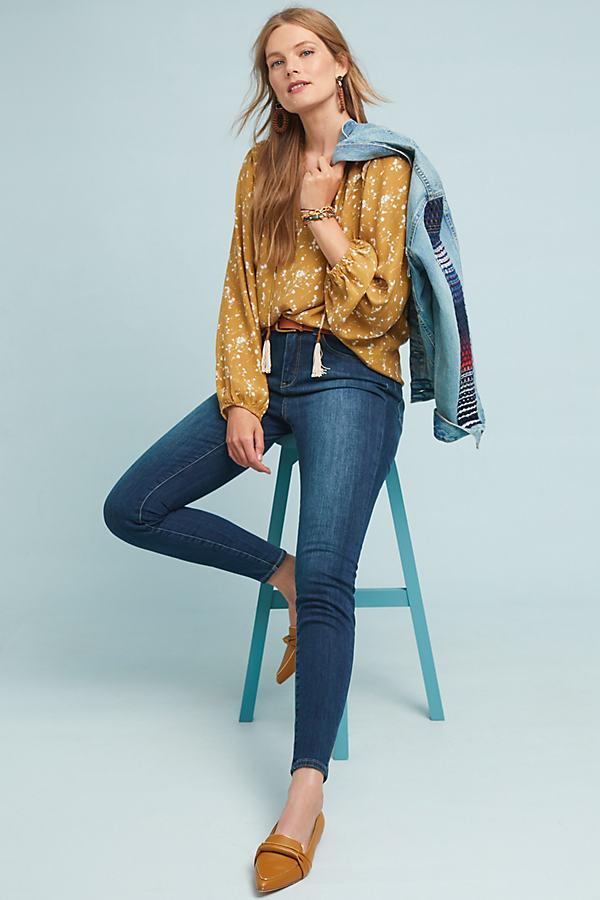 Pilcro Curvy Skinny Jeans - Blue, Size 32
