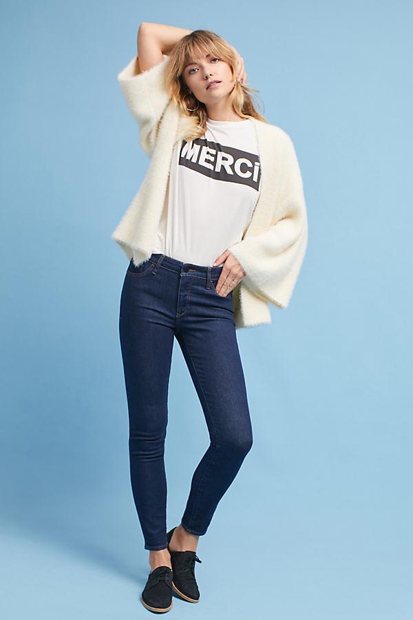 Pilcro Mid-Rise Skinny Jeans - Denim Dark, Size 32