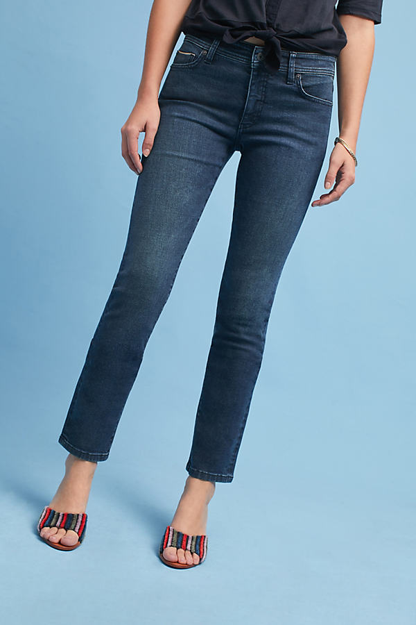 Pilcro High-Rise Slim Straight Jeans - Denim Dark, Size 28
