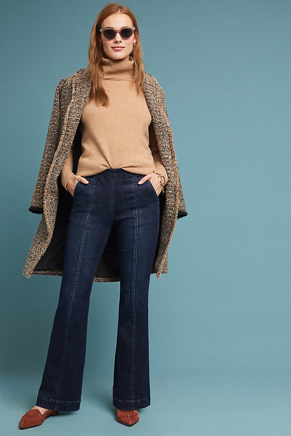Petite Pilcro High-Rise Bootcut Jeans - Blue, Size 27 Petite