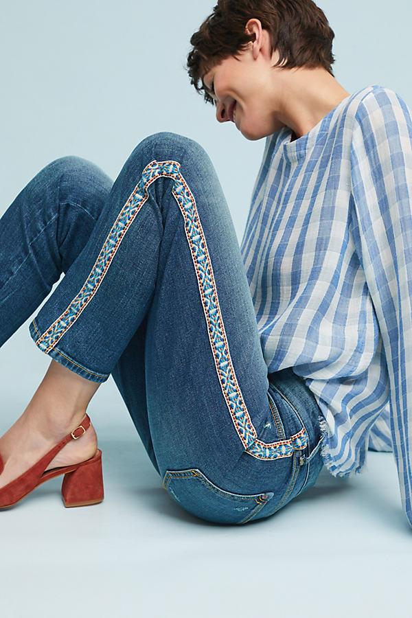 Pilcro Mid-Rise Slim Boyfriend Jeans - Blue, Size 25